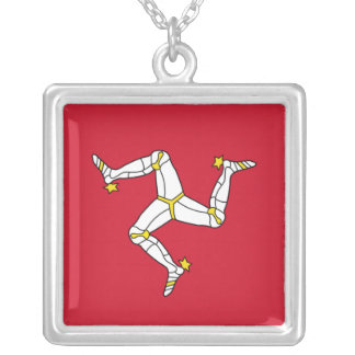 Elegant Necklace with Isle of Man Flag, U.K.
