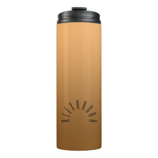Elegant Neutral Gradient Gold with Custom Name Thermal Tumbler