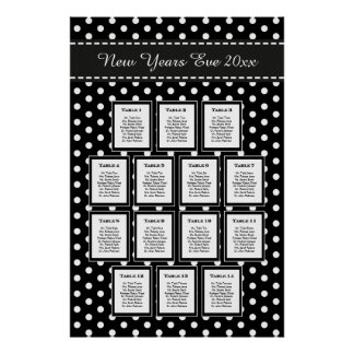 Elegant New Year's Eve Party Seating Chart Posters