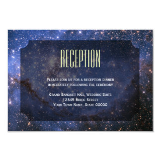 Elegant Night Sky / Space Theme Reception Card
