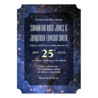 Elegant Night Sky / Space Theme Wedding Invitation