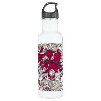 Elegant Nouveau Art vintage floral painting 710 Ml Water Bottle