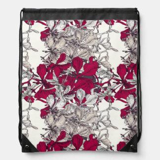 Elegant Nouveau Art vintage floral painting Drawstring Bag