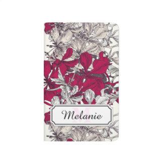 Elegant Nouveau Art vintage floral painting Journal