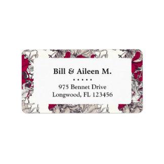 Elegant Nouveau Art vintage floral painting Label