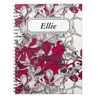 Elegant Nouveau Art vintage floral painting Notebook