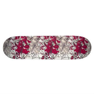 Elegant Nouveau Art vintage floral painting Skateboard Decks