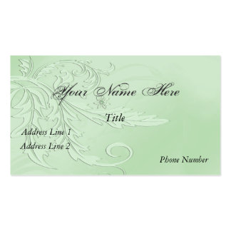 Elegant Nouveau Fleur Business Card