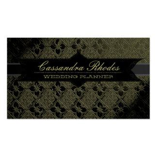 Elegant Olive Green & Black Business Card