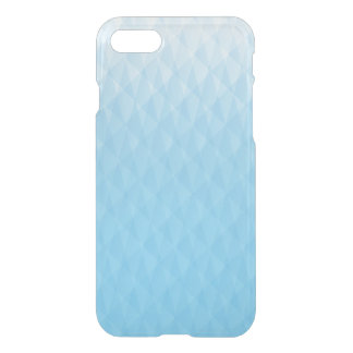 Elegant Ombre Sky Blue Geometric Design iPhone 8/7 Case