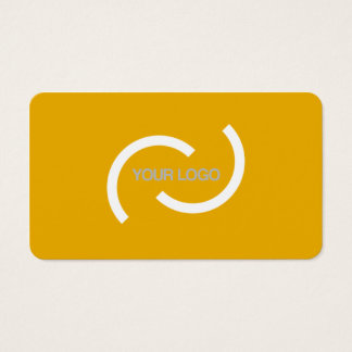 Elegant orange card. Customise with your own logo. Business Card