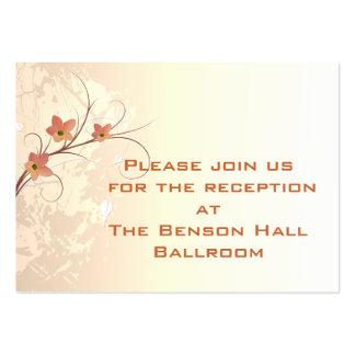 elegant orange flowers swirl design business card templates