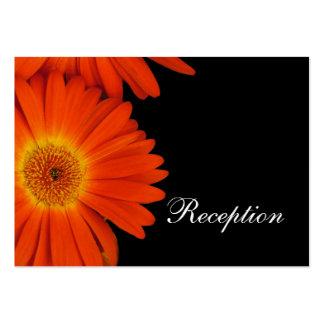 elegant orange gerbera daisy flowers  reception business card template