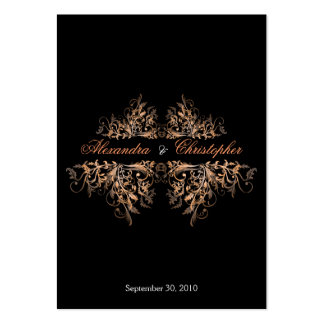 Elegant Orange Swirls RSVP Wedding Announcement Mi Pack Of Chubby Business Cards