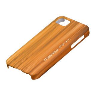 Elegant Orange Texture Custom Name iPhone 5 Cover