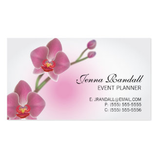 Elegant Orchid Double-Sided Business Card