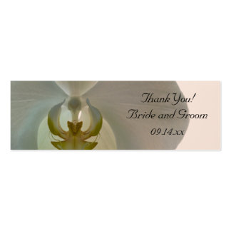 Elegant Orchid Wedding Favor Tags Business Cards