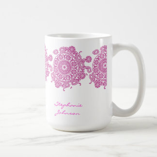Elegant Ornament White/Pink Mug