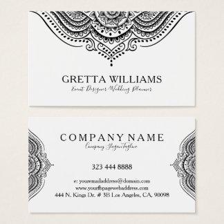 Elegant Ornate Black Ornament Lace Swirls Business Card