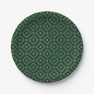 Elegant Ornate Gold Christmas Paper Plate