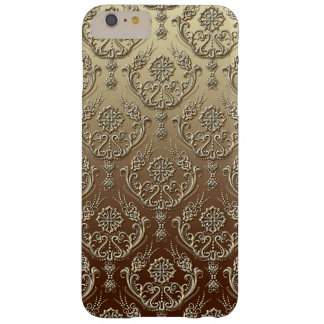 Elegant Ornate Gold Embossed Damask Barely There iPhone 6 Plus Case