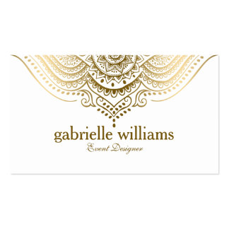 Elegant Ornate Gold Lace Geometric Swirls Pack Of Standard Business Cards