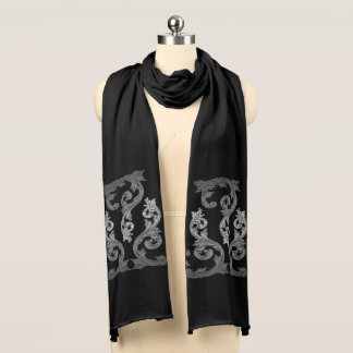 Elegant Ornate Gothic Design Scarf