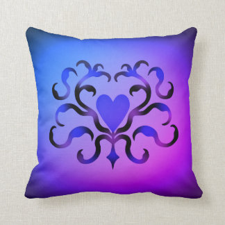 Elegant ornate heart cushion
