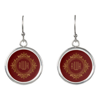 Elegant Ornate Inital | Best Gifts Earrings