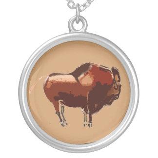 Elegant Painted Bison Necklace