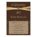 Elegant Paisley 80th Birthday Invitations