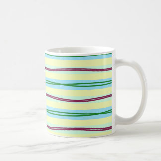 Elegant pale stripes with bold wavy accent coffee mug