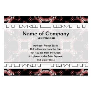 Elegant Paper Flower Cut Outs Big Business Card