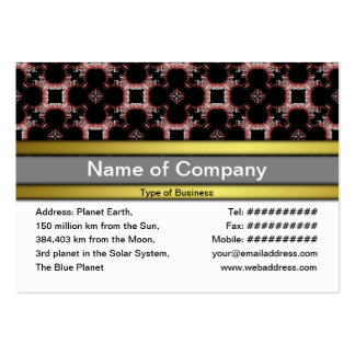 Elegant Paper Flower Cut Outs Small Business Cards