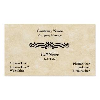 Elegant Parchment Swirl Business Card Template