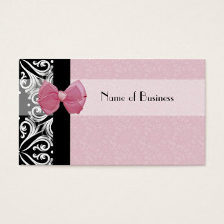 Elegant Parisian Damask Pink Ribbon