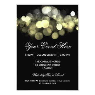 Elegant Party Invitation Gold Black