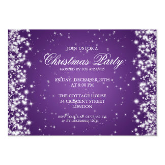 Elegant Party Sparkle Purple 13 Cm X 18 Cm Invitation Card