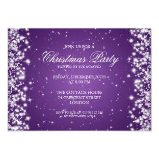Elegant Party Sparkle Purple Card