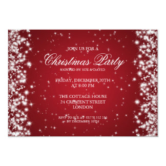 Elegant Party Sparkle Red 13 Cm X 18 Cm Invitation Card