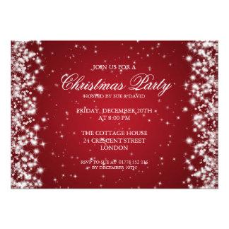 Elegant Party Sparkle Red Announcements