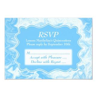 Elegant Pastel Blue Quinceanera 9 Cm X 13 Cm Invitation Card