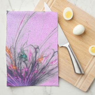 Elegant  Pastel Ombre Glitter Tea Towel