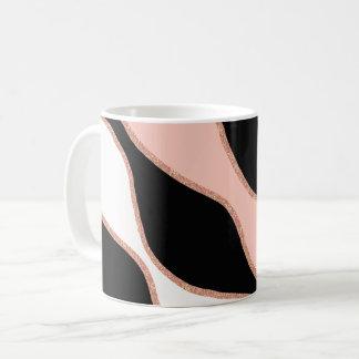 elegant pastel pink faux rose gold glitter pattern coffee mug