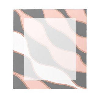 elegant pastel pink faux rose gold glitter pattern notepad
