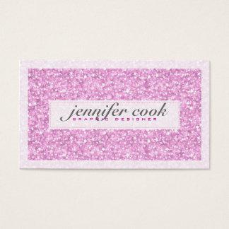 Elegant Pastel Pink Glitter & Sparkles 3 Business Card