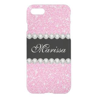 Elegant Pastel Pink Glitter Uncommon iPhone 8/7 Case