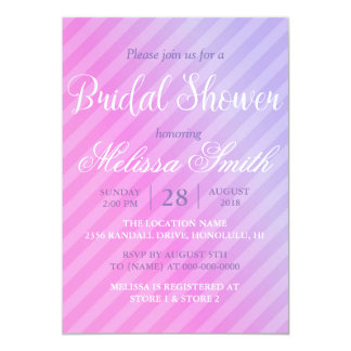 Elegant Pastel Pink Lilac Bridal Shower Card
