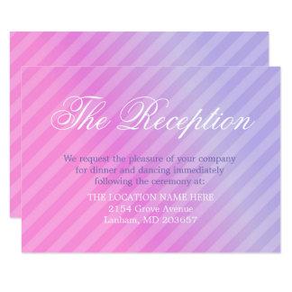Elegant Pastel Pink Lilac Information Details Card