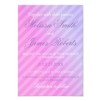 Elegant Pastel Pink Lilac Personalized Wedding Card